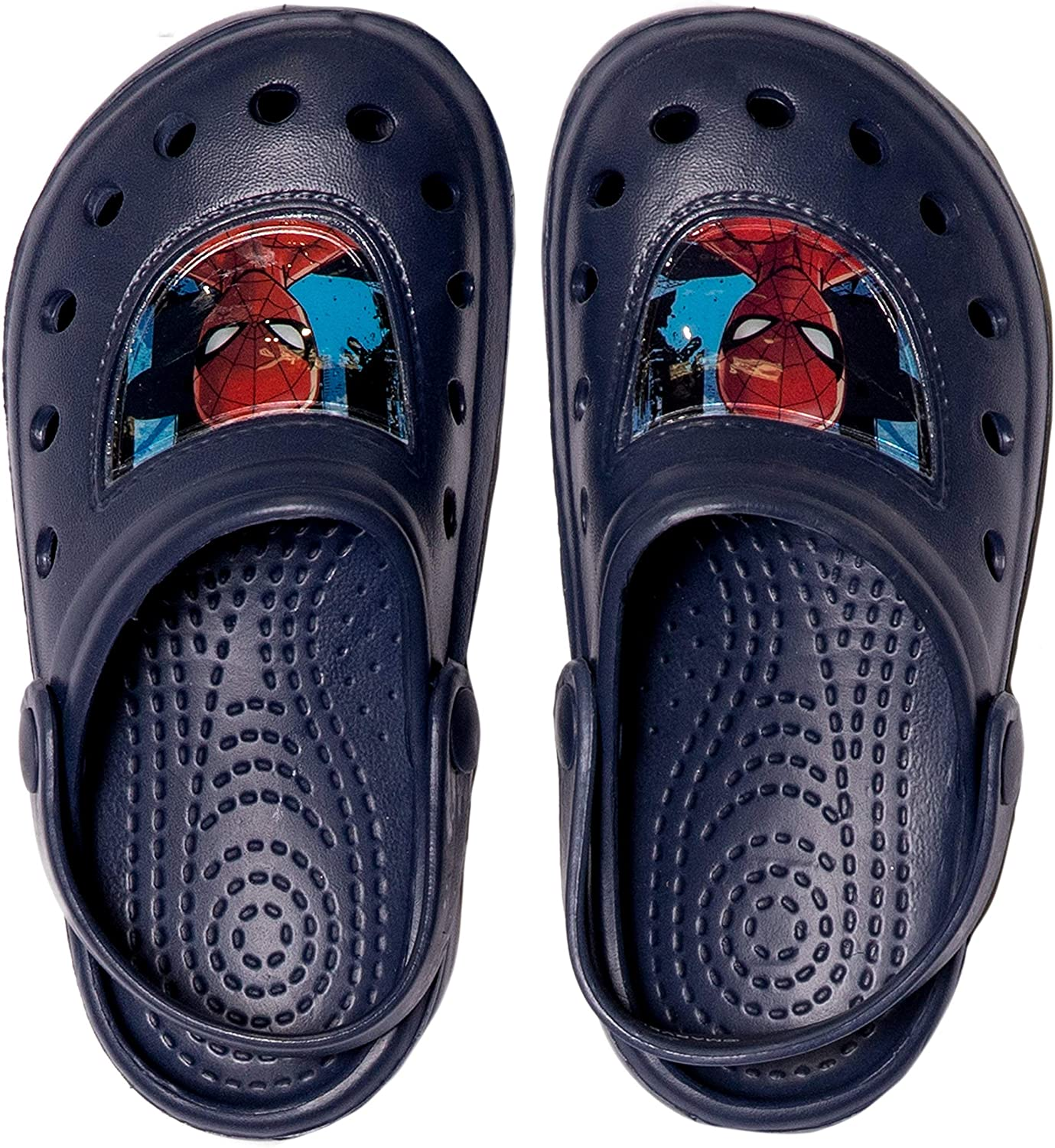 Marvel Spiderman Official Boys Clogs or Sliders Flip Flops Sandals Waterproof with 3D Character Picture 8-13 Child UK Sizes