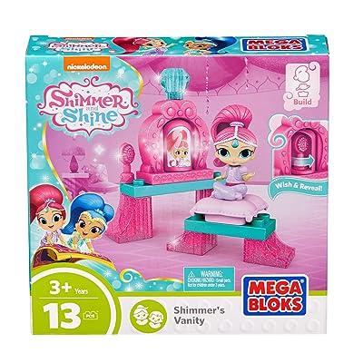 Mega Bloks Shimmer & Shine Shimmer Vanity Building Set: Toys & Games