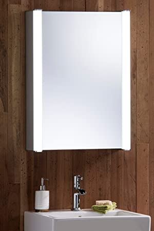LED Illuminated Bathroom Mirror Cabinet With WIRE FREE Demister Heat Pad Shaver Socket And Sensor