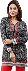 Women Fashion Casual Short Indian Kurti Tunic Kurta Top Shirt Dress 40A Sale £9.99