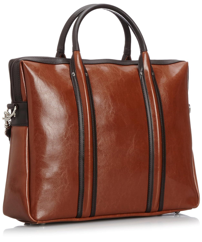 Business bag leather B4 corresponding 2WAY 493 tea Overdrive