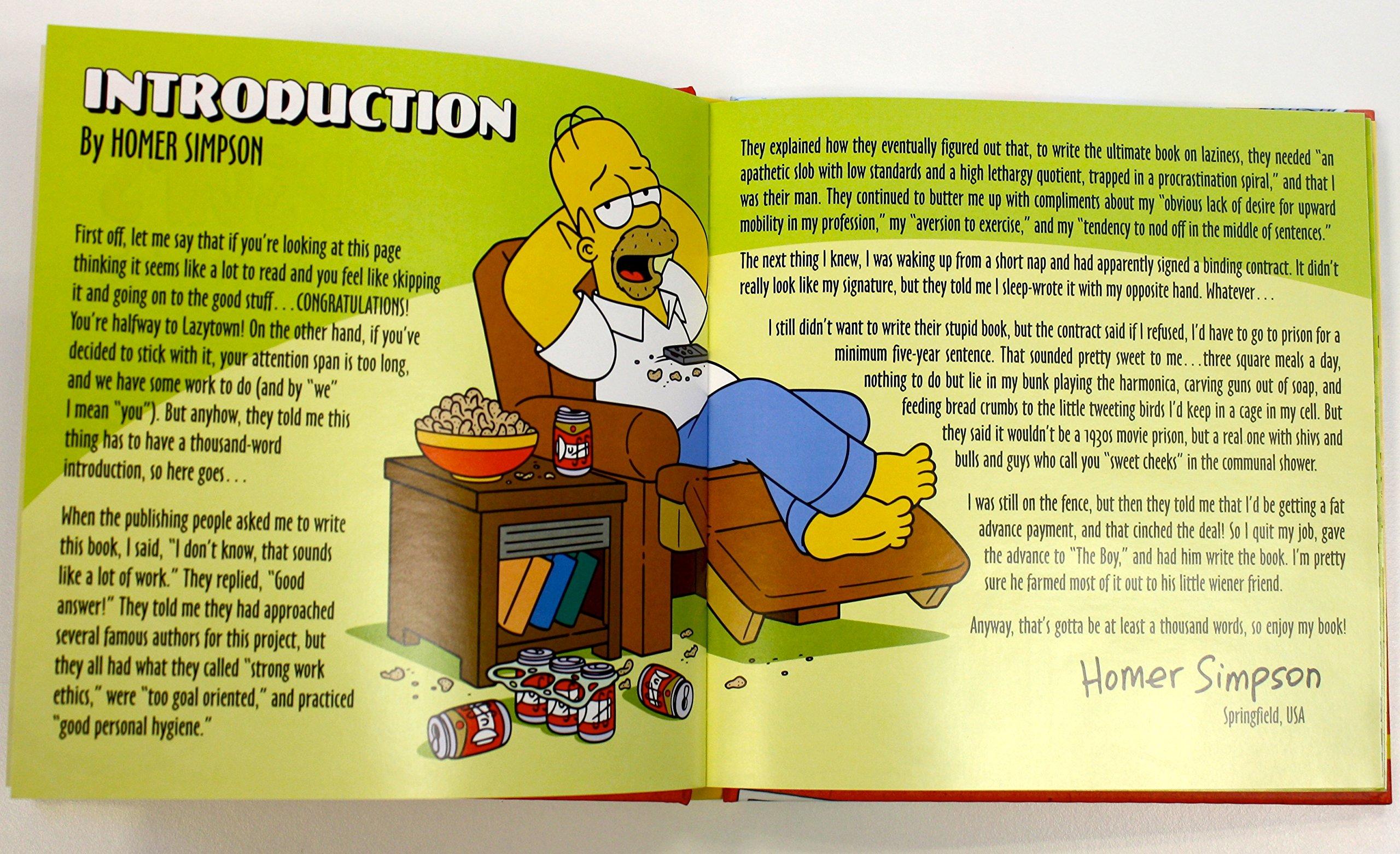 homer simpson s little book of laziness vault of simpsonology  homer simpson s little book of laziness vault of simpsonology 1 amazon co uk matt groening 9780593073001 books
