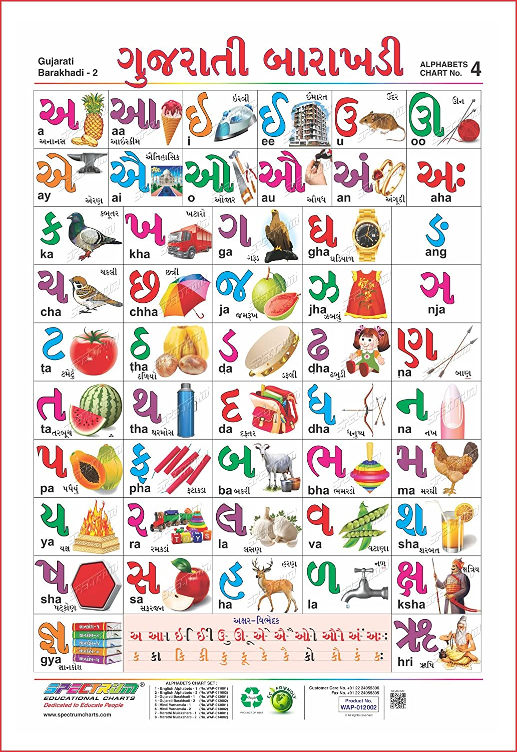 Spectrum Educational Large Wall Charts (Set of 5