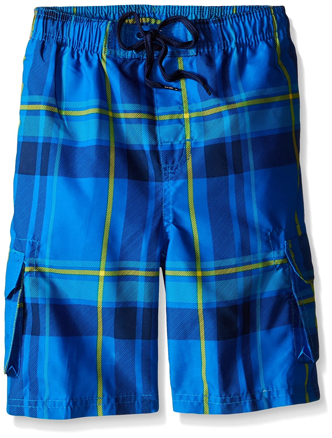 Kanu Surf Boys' Matrix Plaid Swim Trunk 3415