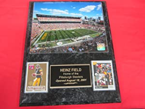 Steelers Heinz Field 2 Card Collector Plaque w/8x10 Photo!
