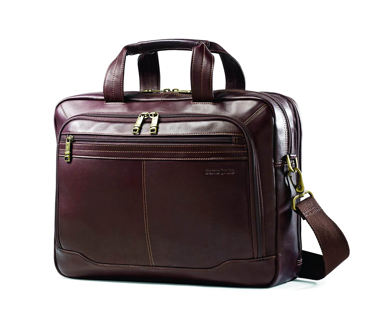 Samsonite Colombian Leather Toploader, Brown, One Size Samsonite Corporation 50792-1139