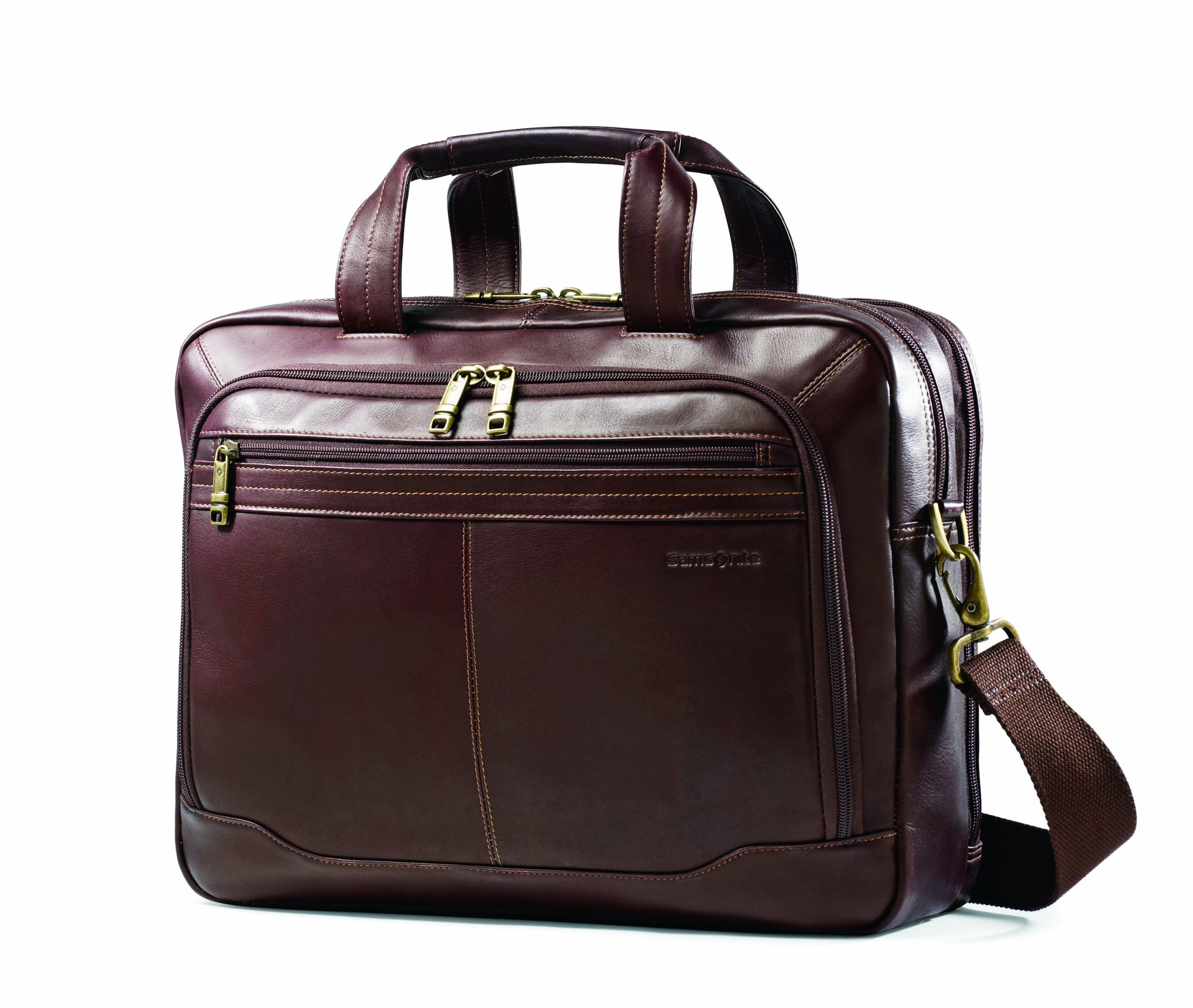 Samsonite Colombian Leather Toploader, Brown, One Size