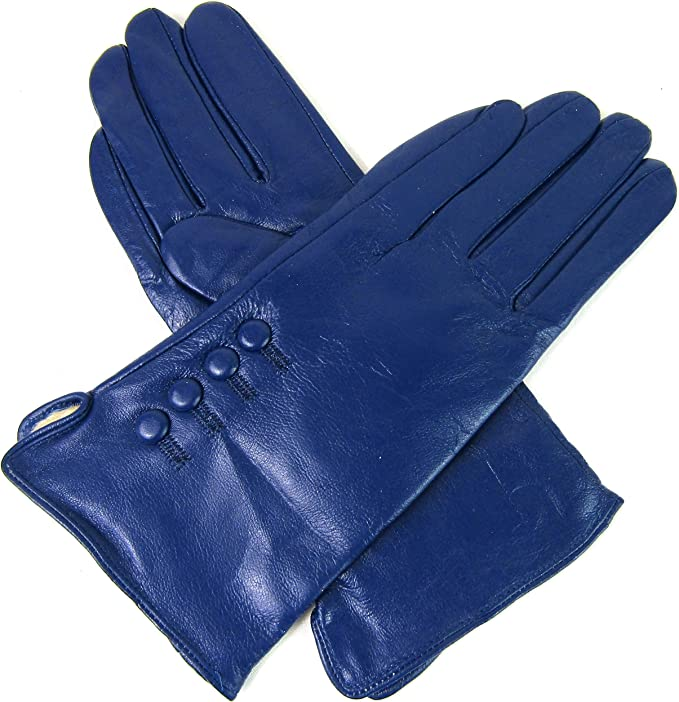 Damen Premium Qualität Original Superweich Leder Handschuhe Pelzfutter Warm