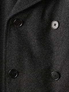 Flannel Padded Peacoat 1225-139-8920: Dark Grey