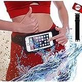 新款防水跑步腰带腰包适用于 iPhone 7、X、8、8 Plus 和 Android 三星 S7/8/9 - W/lear Touchscreen 盖 - IPX8 额定腰包,适用于健身、旅行、海滩、皮划艇、钓鱼等!