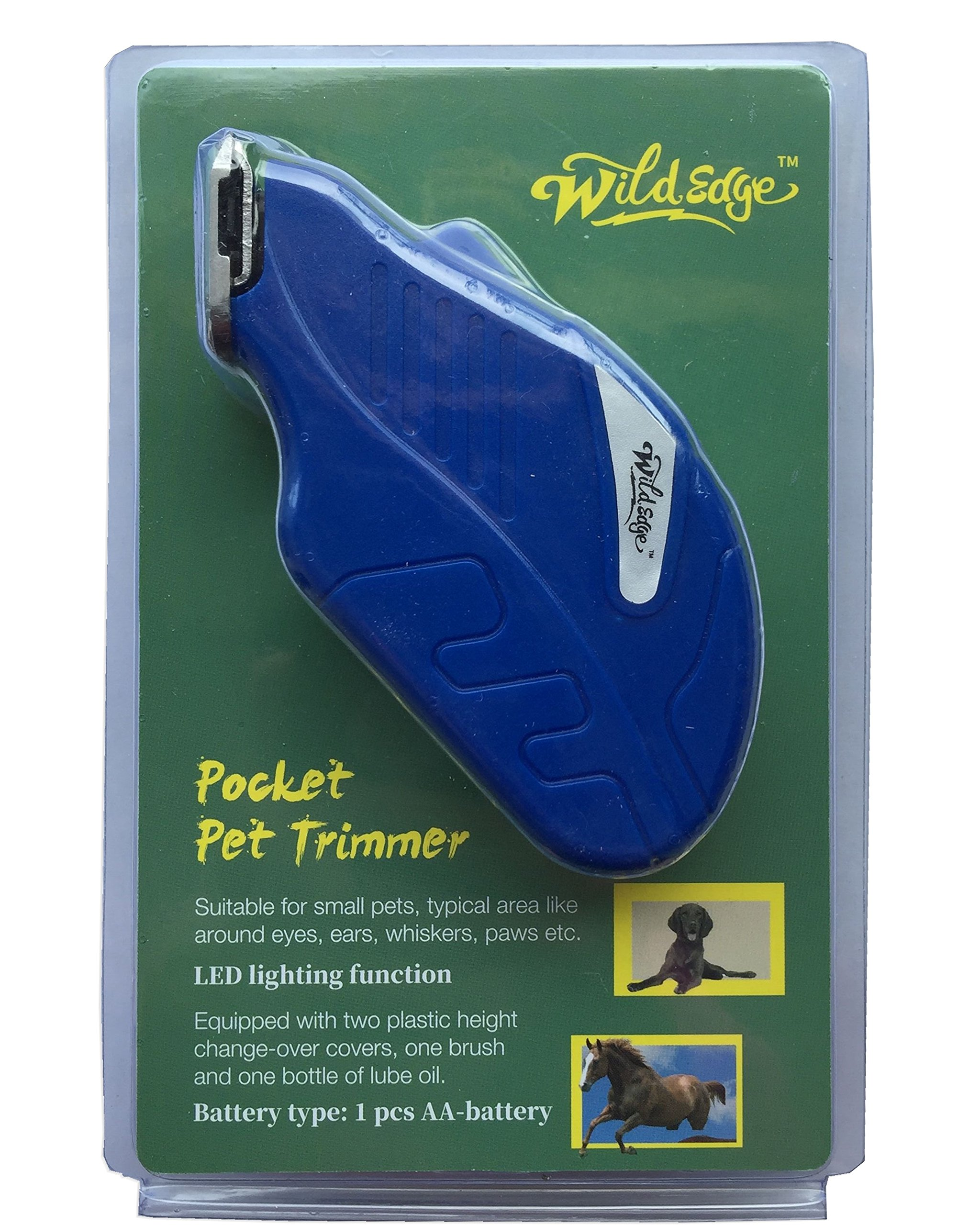 Wild Edge Dog Trimmer, Cat Trimmer, Horse Trimmer, Small Animals Pocket Grooming Trimmer Kit