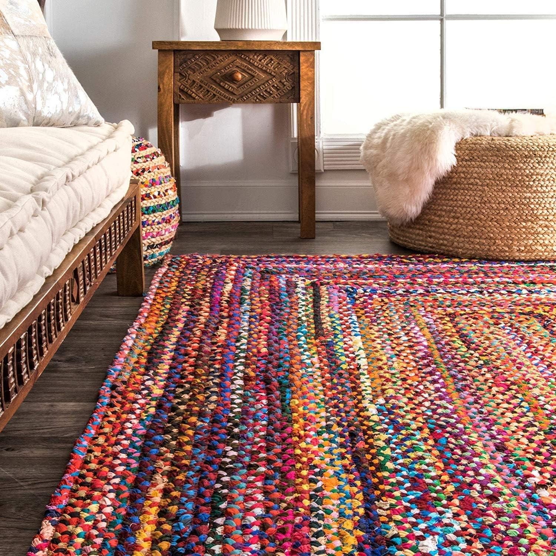 36 X 24 Cm Grand Tapis de Salon Tapis Indien Tissus Multicolores Faits Main pour la d/écoration int/érieure RAJRANG BRINGING RAJASTHAN TO YOU Tapis color/é