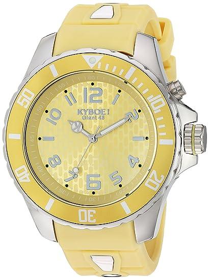 KYBOE KY.48-038.15 - Reloj de pulsera unisex, Silicona, color Amarillo