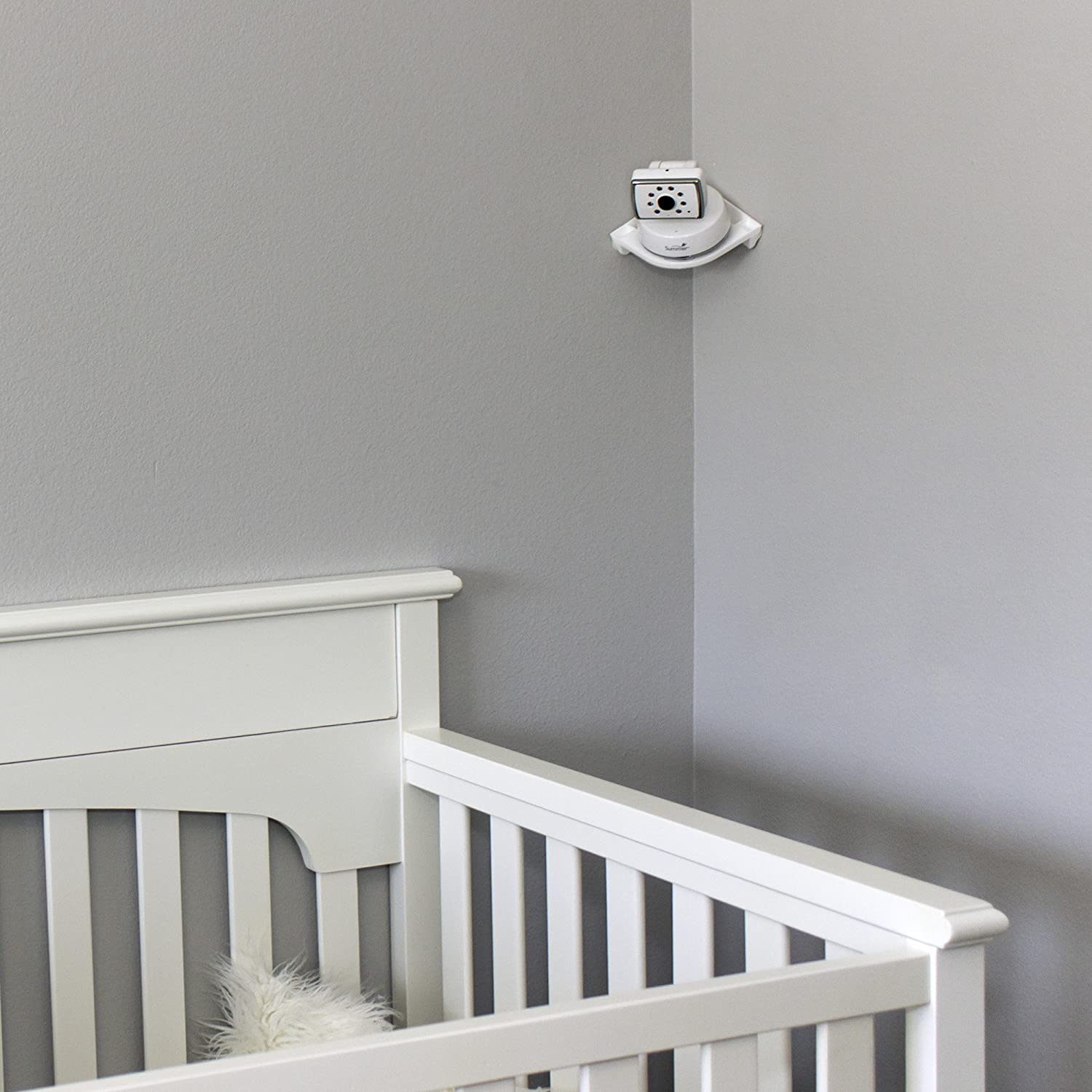 - Compatible With Most Baby Monitors Vusee The Universal Baby Monitor Shelf Peel /& Stick Installation Flat