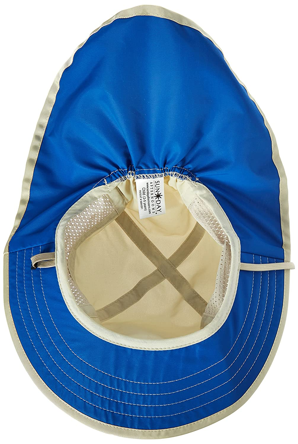 Amazon.com  Sunday Afternoon Adjustable Kids Sun Hat w  Chin Strap (Cream    Royal 429a1a22bea2