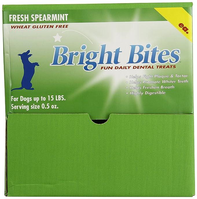 Amazon.com : Bright Bites Daily Dental Dog Treats, Fresh Spearmint ...