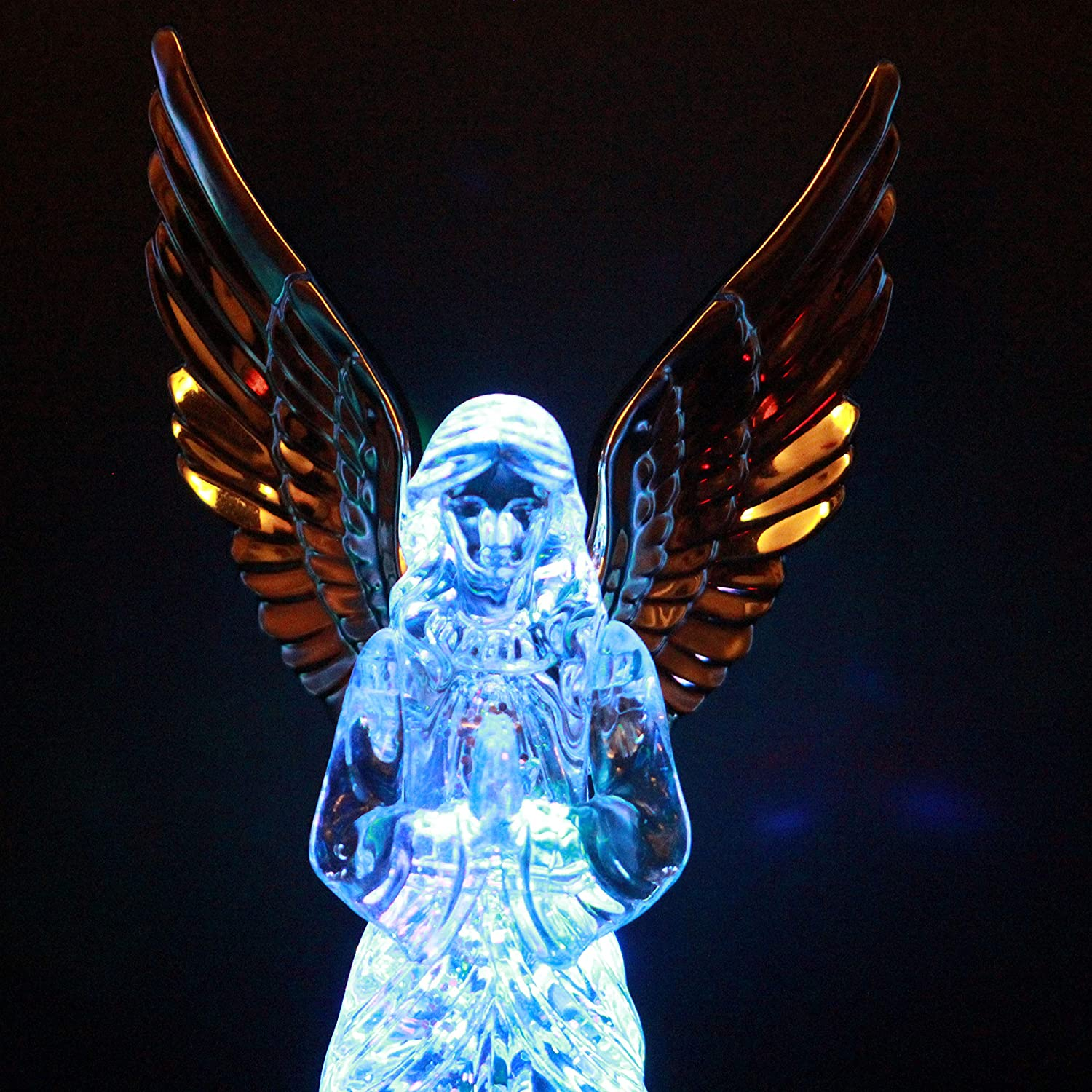 Creative Crystal Angel Statue Figurine Laser Crystal Ornaments Indoor Outdoor Home Garden Decoration Deocor Ornament Wings Angel Sculpture,A