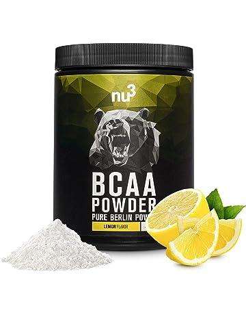 nu3 BCAA en polvo | 400g sabor limón | 40 porciones de aminoácidos ramificados | Proporción