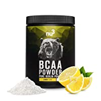 nu3 BCAA Powder Lemon | 400g BCAA powder | Fresh citron taste | Optimal amino acid ratio of 2:1:1 | For bodybuilding & endurance athletes | Vegan | Low in sugar, free of aspartame