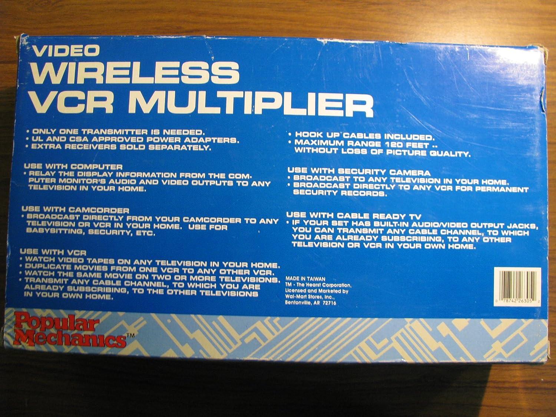 Amazon.com: 900 MHz Video Wireless VCR Multiplier: Electronics