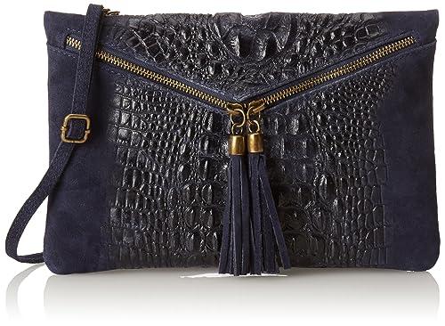 01963cf41a Chicca Borse 10025 Pochette da Giorno, 29 cm, Blu: Amazon.it: Scarpe e borse