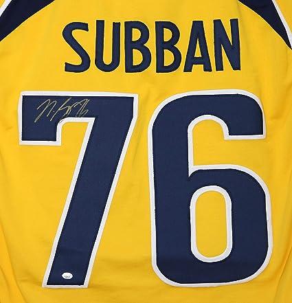 sports shoes 58d4c 9f1b9 P.K. Subban Nashville Predators Signed Autographed #76 ...
