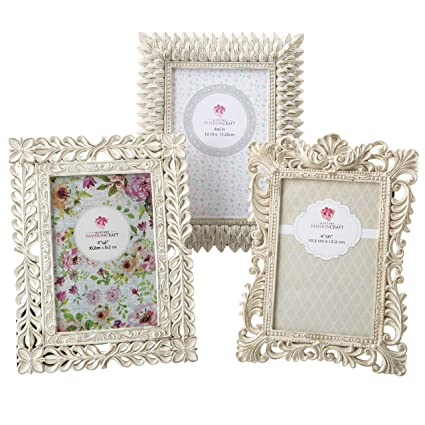 83cc2961050 Vintage Baroque Ornate Antique Picture Frames ~ Set of 3 for 4x6 Inch  Photos