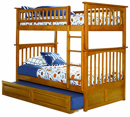 Amazon Com Atlantic Furniture Columbia Twin Over Twin Bunk Bed With
