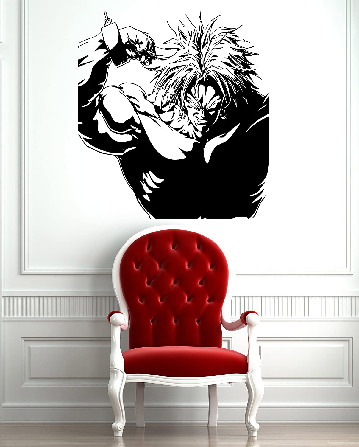 Amazon chained broly dragon ball z anime decor wall mural amazon chained broly dragon ball z anime decor wall mural vinyl decal sticker p393 home kitchen amipublicfo Images
