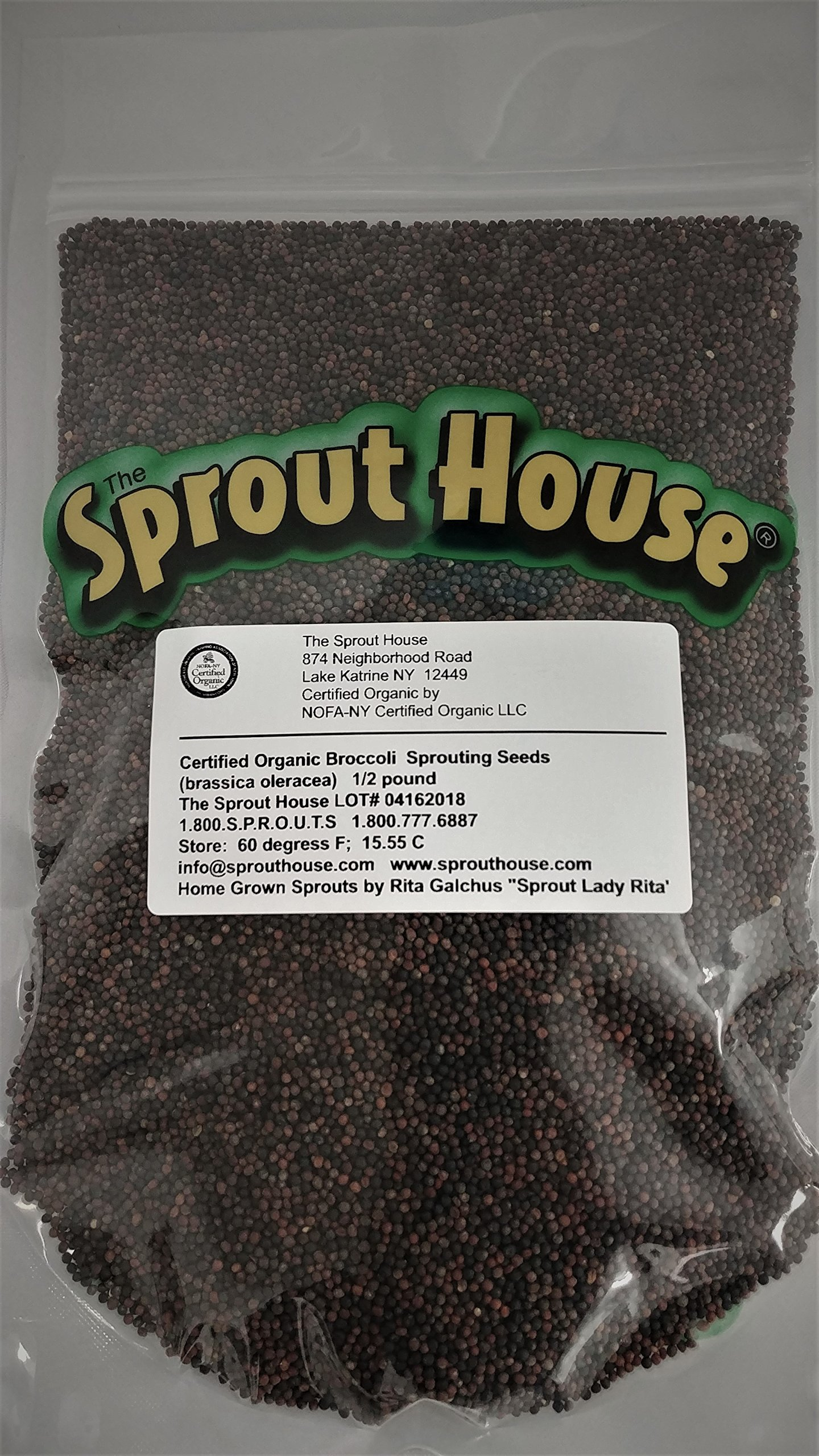 The Sprout House Broccoli Certified Organic Non-gmo Seeds for Sprouting 8 Ounces - 1/2 Pound by The Sprout House