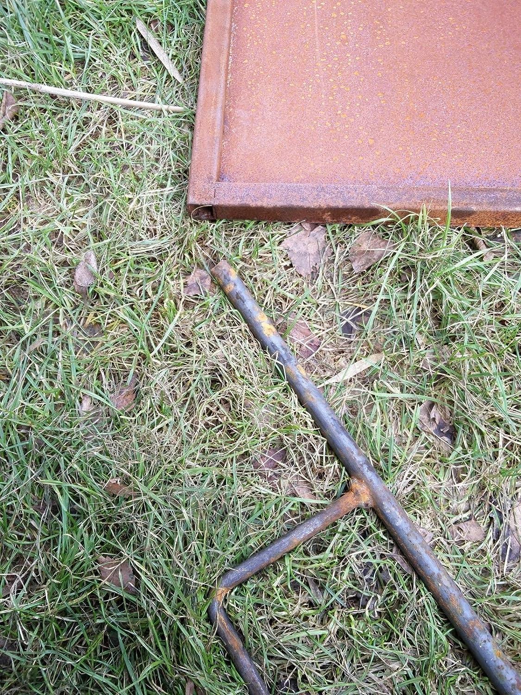 Garten Sichtschutz Aus Metall Rost Gartenzaun Gartendeko Edelrost