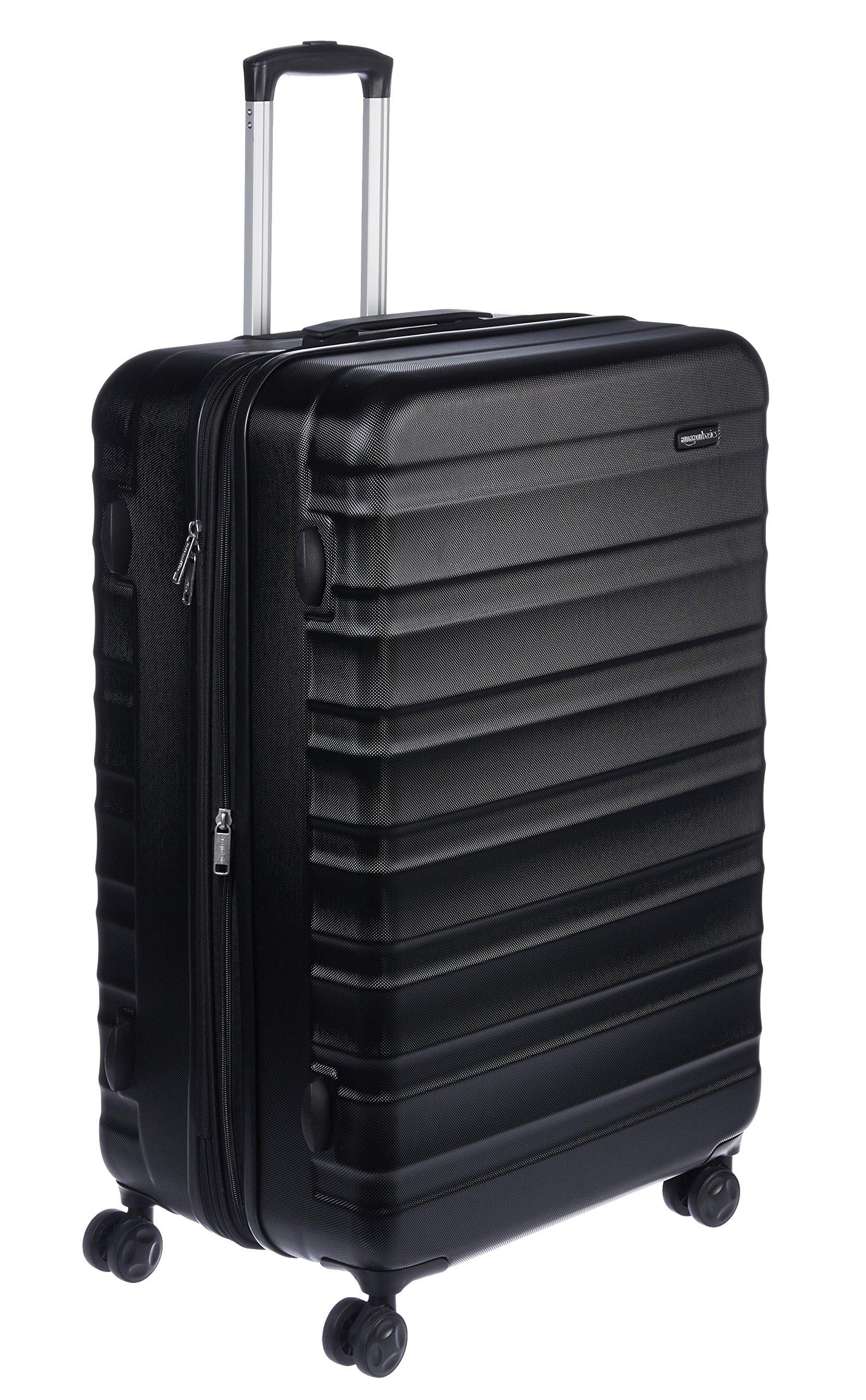 AmazonBasics Hardside Spinner Luggage - 28-Inch, Black by AmazonBasics
