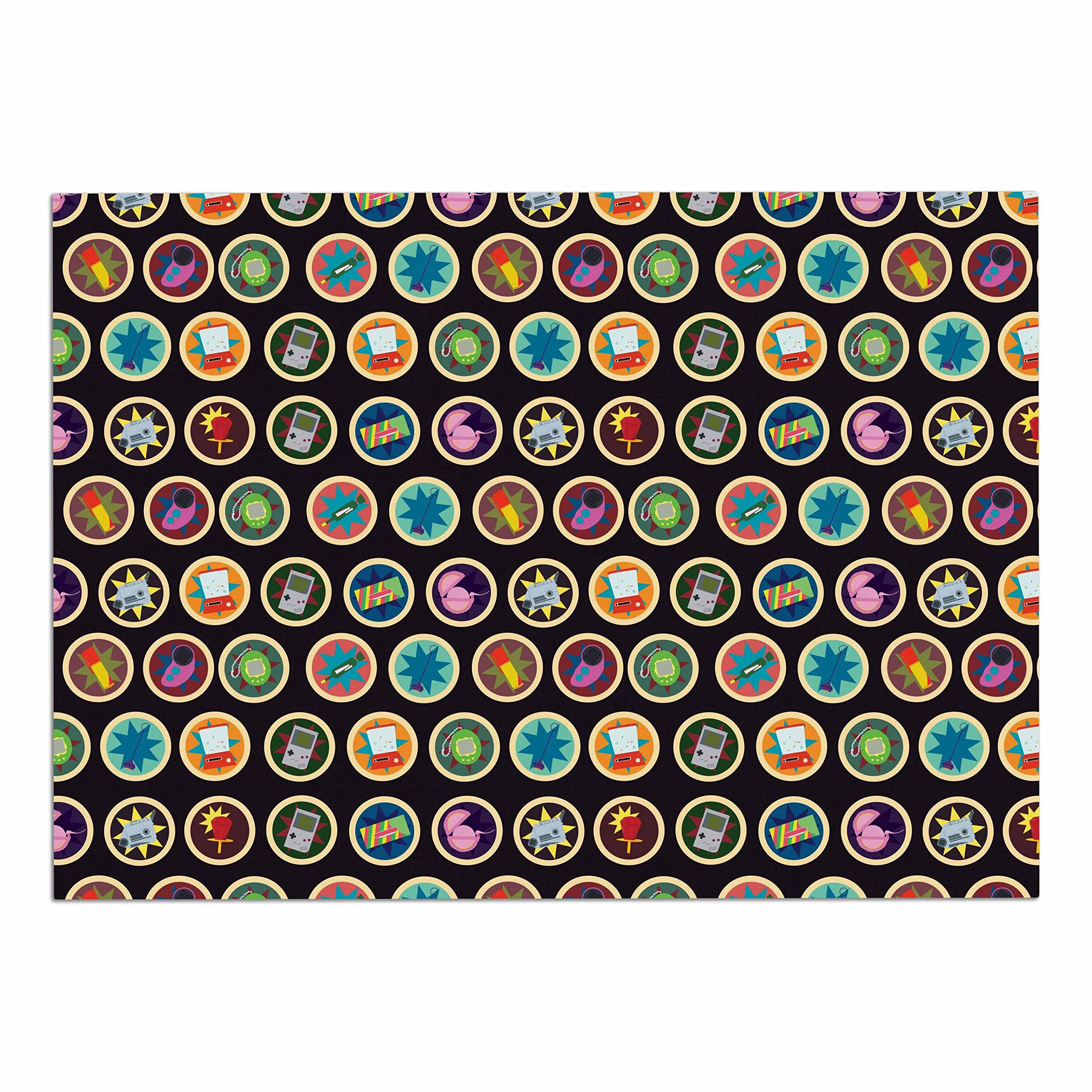 KESS InHouse SV1006ADM02 Stephanie Vaeth ''Toys, Games & Candy'' Multicolor Pattern Dog Place Mat, 24'' x 15'' by Kess InHouse (Image #1)
