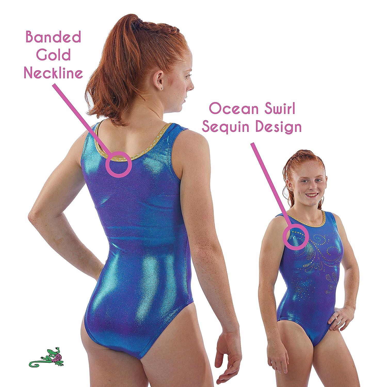 6fcb70651 Amazon.com   Lizatards Ocean Swirl Gymnastics Leotard