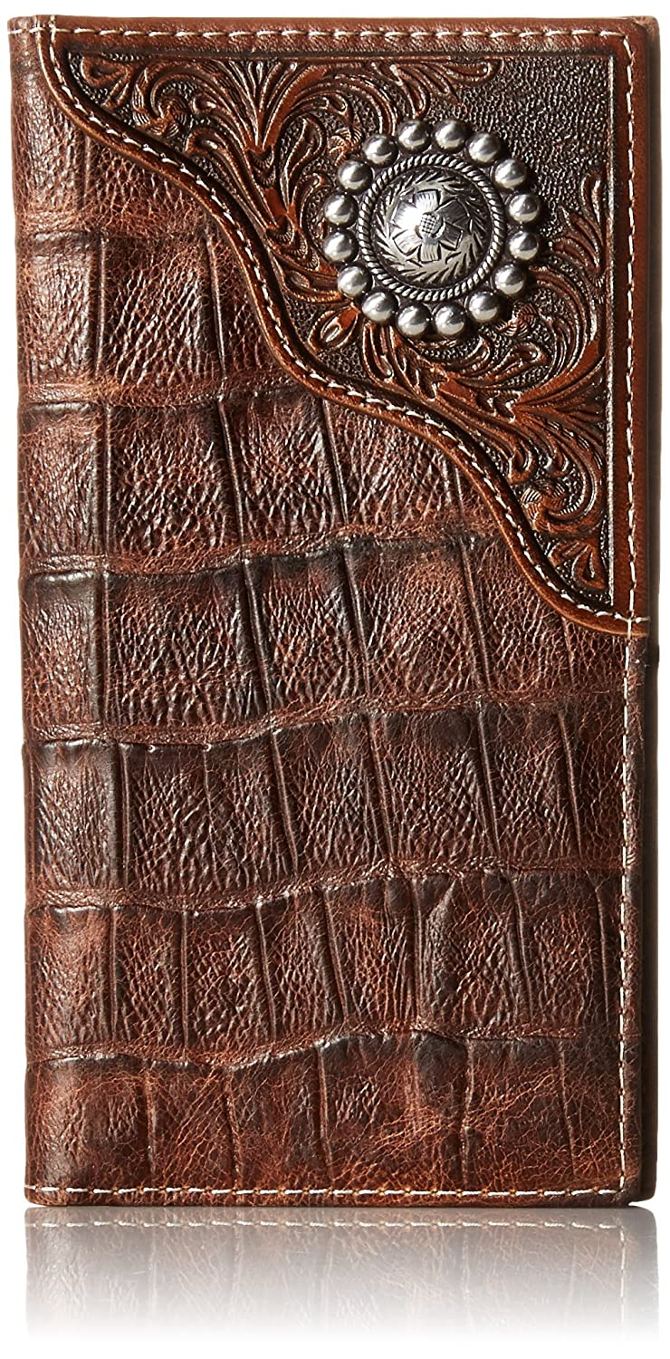 Ariat Mens Caiman Floral Over Circle Rodeo Wallet