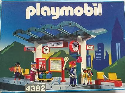 Amazon.com: Playmobil 4382 estación de tren/Plataforma: Toys ...