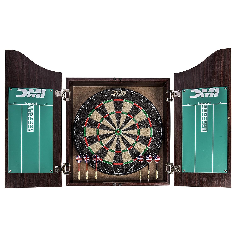 DMI Sports Dartboard Cabinet Set with Rustic Wood Finish ESCQ9 CABSETRW
