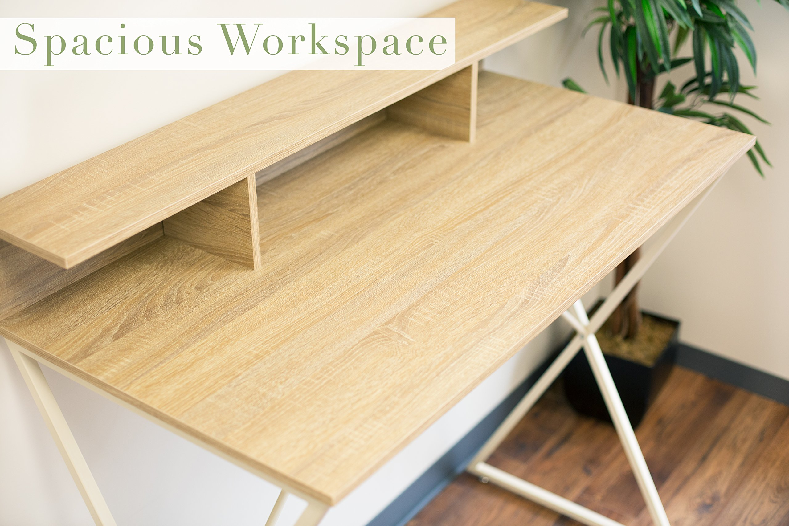 Joy Desk by Stand Steady - Modern Home Office Standing Desk Workstation with Storage Cubbies! - 47.5'' x 41.5'' by Stand Steady (Image #8)
