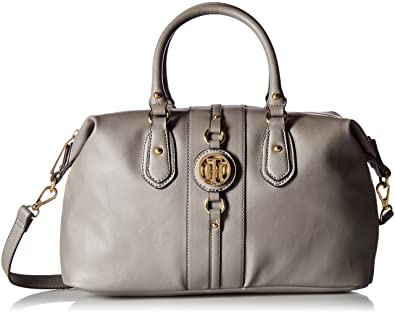 964652871f Tommy Hilfiger Handbag Jaden Satchel, Nickel: Amazon.co.uk: Shoes & Bags
