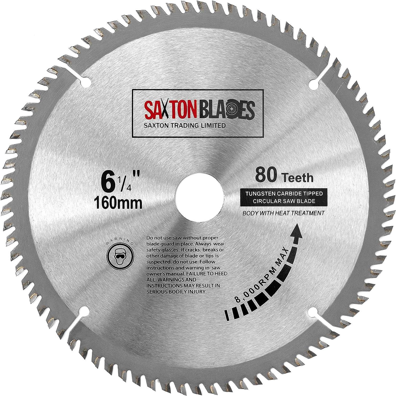 Tct16080t Saxton Tct Circular Wood Saw Blade 160mm X 80t For Festool Ts55 Bosch Makita Dewalt Amazon Co Uk Diy Tools