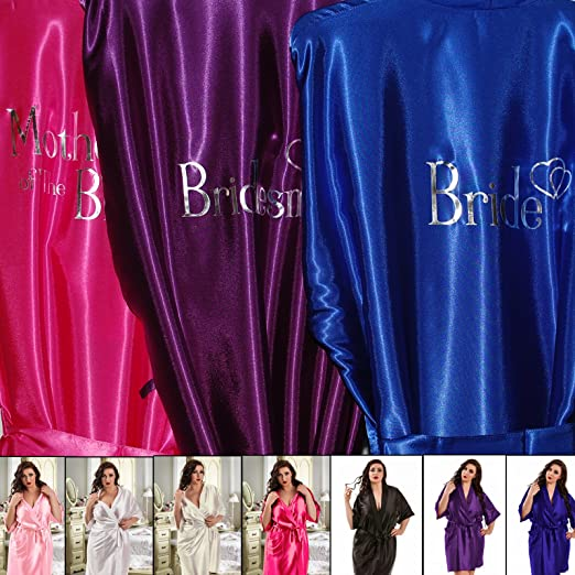 Inspired Creative Design - Bata personalizable estilo kimonopara fiesta de boda, de colores: Amazon.es: Hogar