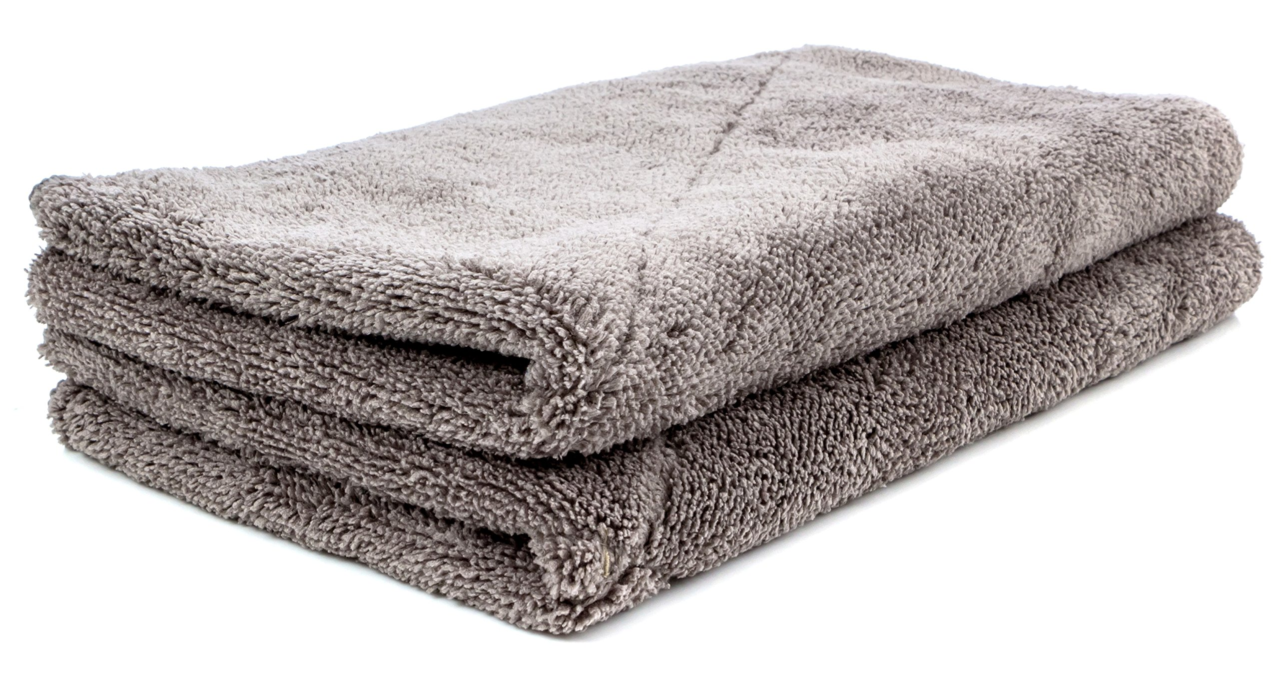 "Dry Rite Super Plush Microfiber Detail Towel- 15""x24"" Premium Professional Grade, Commercial Size- Large Drying, Wax Removal Cloth, 700 GSM- Gray (2 Towels)"