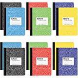Cadernos de composição Oxford, papel pautado largo, 24 x 19 cm, capas de mármore sortidas, 100 folhas, 12 por pacote, cores p