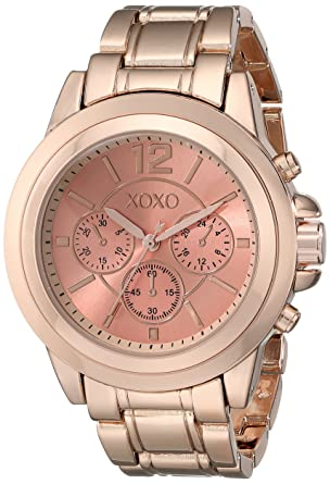 Buy XOXO Analogue Gold Dial Rose Gold-Tone Metal Bracelet Women s Watch  Online at Low Prices in India - Amazon.in e5a1a0660fe5