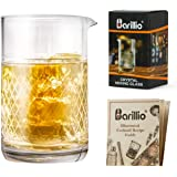 Barillio 20 Oz Crystal Cocktail Mixing Glass Set | Seamless Mixing Pitcher for Stirred Cocktail with Weighted Bottom | Old Fa