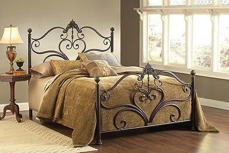 Amazon.com: Hillsdale Furniture 1756BQR Newton Bed Set with Rails ...