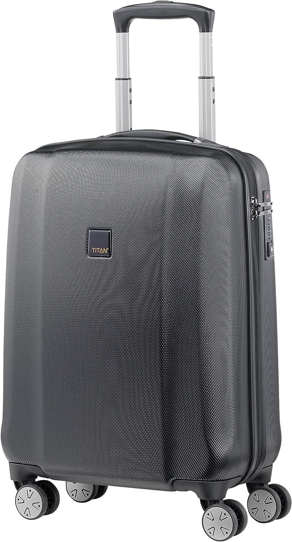 "Titan Xenon Deluxe PC International CarryON 21/"" Luxury Spinner Silver"