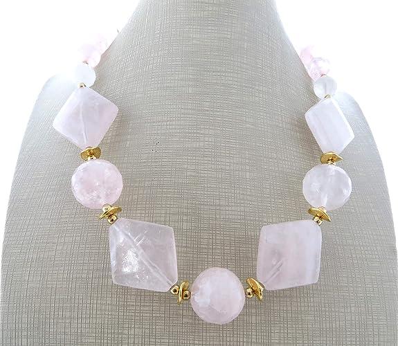f29216452bb9 Collar de cuarzo rosa natural