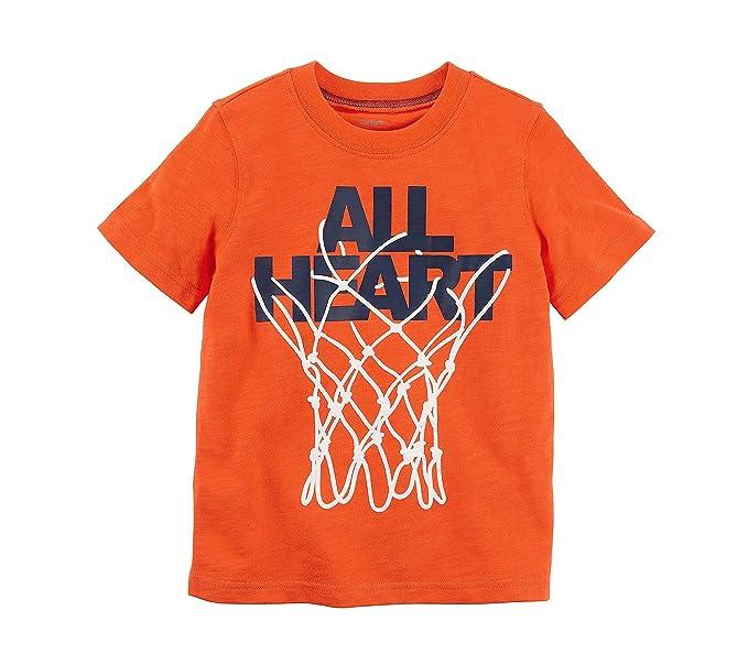 Amazon Com Carter S Boys 2t 8 Short Sleeve All Heart Basketball