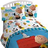 Peanuts Sunny Day Twin 3 Piece Sheet Set